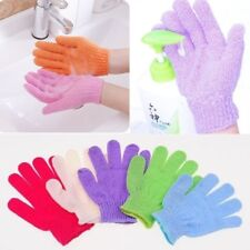 1 Pair Exfoliating Shower Bath Gloves Wash Skin Spa Massage Scrub Body Gloves