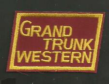 GRAND TRUNK WESTERN  RAILROAD   PATCH 2 X 3 ""