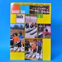 Modellbau heute 8/1980 GST DDR Flugmodellbau Schiffsmodellbau   Dampfschiffproj.