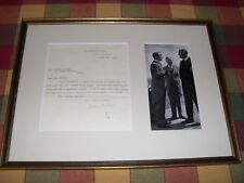 John Buchan 1932 Signed Letter Framed with Photo of Buchan,F.D.R & W.L.M King