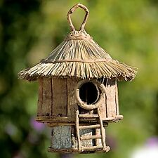 Birdhouse Round Wood Garden Patio Bird Houses Garden Decor