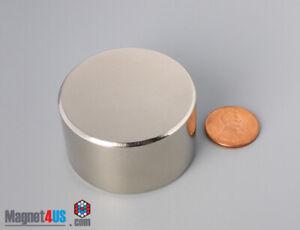 "44mm x 25mm  1 3/4"" x 1""  N45 Strong  Rare Earth Neodymium Disc Magnets"