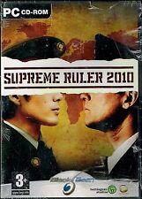 PC CD-Rom - SUPREME RULER 2010 -  Dès 3 ans -  Neuf sous blister.