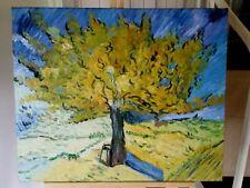 "Original oil canvas reproduction Van Gogh ""Tree"" unsigned gallery wrap 20 x 24"