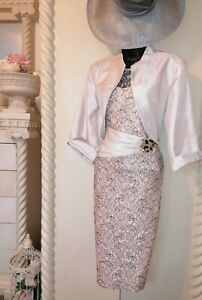 STUNNING  CHAMPAGNE MOTHER OF THE BRIDE OUTFIT SIZE 18