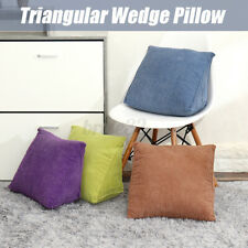 Triangular Wedge Lumbar Pillow Backrest Support Cushion Bolster Headboard