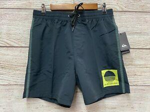 Quiksilver Swim Trunk Mens Large Beta Test Volley Nylon Trunks 17'' Shorts New S