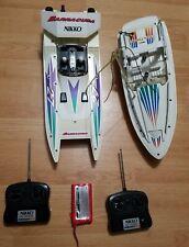 Lot of Vintage 80's Nikko Barracuda and Sea Hawk Model Rc Boat Untested Original