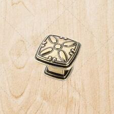 "Kitchen Cabinet Hardware Deco Square Knobs ku093 Antique English pulls 1-3/16"""