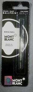 Genuine Montblanc Ballpoint Pen Refills, Black Sealed Packs, 1 Packs