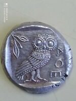 Argent GRECQUE DRACHME chouette ATHÉNA Copy Attica, Athens. Silver Drachm