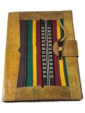 Tisserant Vintage Tuareg Leather Folder/Made in Mali/ Meeting Handmade Leather
