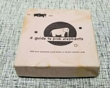 "VINTAGE 1957 ""A GUIDE TO PINK ELEPHANTS"" COCKTAIL RECIPE BOOK ORIGINAL BOX"
