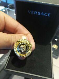 Versace men's Medusa ring