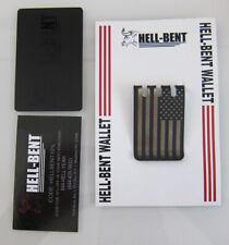 Hellbent Wallet Titanium clip FLAG NEW
