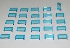 LEGO LOT OF 25 NEW 1 X 2 X 3 TRANS-LIGHT BLUE TRANSPARENT PANELS PIECES