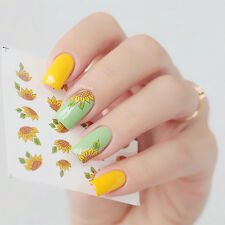 Sunflower Theme Nail Art Water Decals Stickers Transfer Sticker Manicure Tips