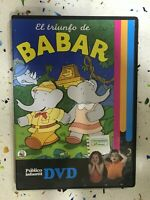 EL TRIUNFO DE BABAR DVD ESPAÑOL INGLES FRANCES  PAL