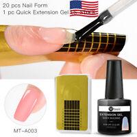 2Pcs/set MTSSII Nail Art Extension Gel Polish Quick Building Form Tips Manicure
