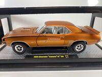 1969 CHEVROLET CAMARO SS 396 M2 MACHINES 1:24 SCALE DIECAST CAR IN ORIGINAL BOX