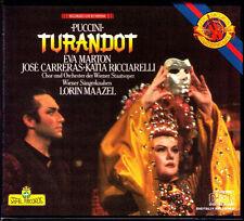 Puccini TURANDOT Eva Marton Jose Carreras Katia Ricciarelli Lorin Maazel CBS 2cd