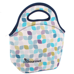 Go Gourmet insulated lunch bag tote in neoprene with zip and handles