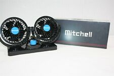 933X09 Mitchell Double Fans Combination 360 Degree Rotating Car Cooling Fan
