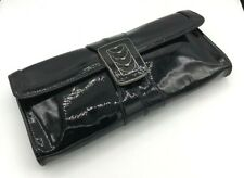 Cole Haan Black Patent Leather Clutch Evening Bag Formal Small medium #1045