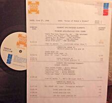 RADIO SHOW: 6/27/88  POMUS/SHUMAN!   DRIFTERS, ELVIS PRESLEY,  COASTERS, DION