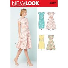 NEW LOOK PATTERN Misses' DRESSES dress with full or slim skirt SIZE 8 - 20 6447