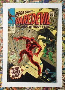 DAREDEVIL #31 - AUG 1967 - COBRA & MISTER HYDE APPEARANCE - FN (6.0) CENTS COPY!