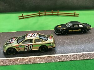 RC Nascar 50th Anniversary GOLD Ford Tarus and McDs cars w/display box 1:64