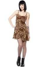 Sourpuss Leopard Print Babydoll Dress NEW Punk Rock Girl Soft Pin Up Rockabilly