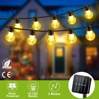 Outdoor Solar Powered String Light 10 LED Garden Yard Christmas Lamp Decor Party