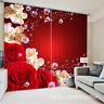 3D Red Floral0187Blockout Photo Curtain Printing Curtain Drapes Fabric Window UK