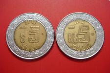 Mexico 5 New Pesos 1993, 5 Pesos 2012