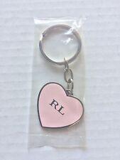 Ralph Lauren Pink Heart Shape Keychain New