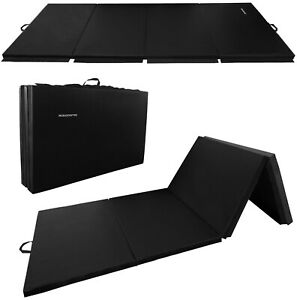 "BalanceFrom 4'x10'x2"" Extra Thick High Folding Exercise Aerobics Mats Black"