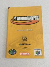 F1 Grand Prix Game Manual Only Instruction Booklet N64