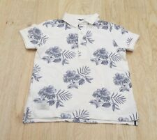 Boys Next Ivory Floral Polo Shirt. Age 4 Yrs