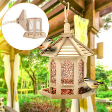 Wild Bird Feeder 1pc Seed Nut Fat Ball Wooden Hanging Squirrel Proof Guard