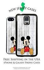 Disney Mickey Mouse Sitting on Wood Apple, Samsung, LG, Google Pixel Phone Case