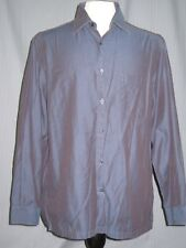 Hugo Boss Adult Large Shiny Blue Long Sleeve Oxford Shirt ( L Shirt t )