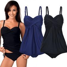 Womens Swimdress Swimming Costume With Skirt Tummy Support Control Swimwear Size