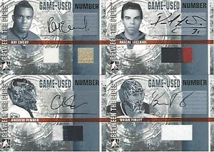 2006-07 IN THE GAME BETWEEN THE PIPES RAY EMERY  AUTOGRAPHED NUMBER 2/10