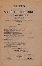 BULLETIN DE LA SOCIETE D HISTOIRE ET D ARCHEOLOGIE DE BRETAGNE   1947