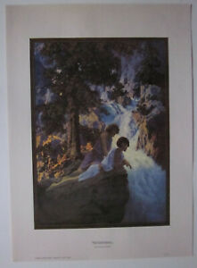 The Waterfall Poster by Maxfield Parrish
