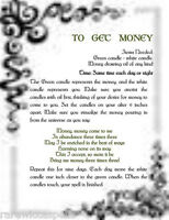 Spell to Get Money Wicca Book of Shadows Pagan Occult Ritual
