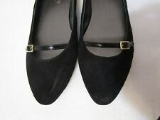 NEW $99 TALBOTS SUEDE POINTED TOE LEATHER FLATS W/ STRAP ACROSS FOOT NELIA2-M 8M
