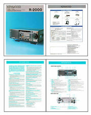 """REPLICA of KENWOOD R-2000 BROCHURE 4 x 8 1/2x11"""" PAGES PRINTED 11x17"""" DUAL SIDED"""